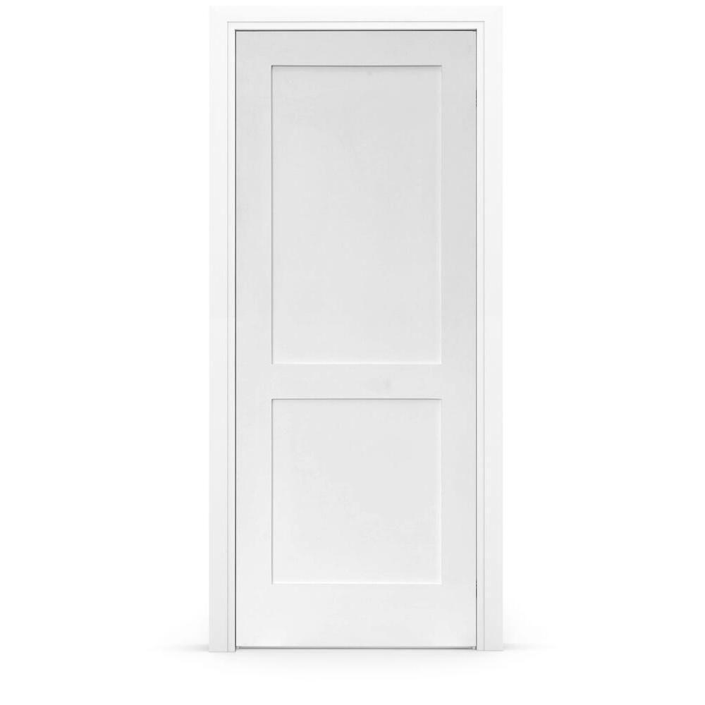 Stile Doors 24 In X 80 In Shaker Primed 2 Panel Left