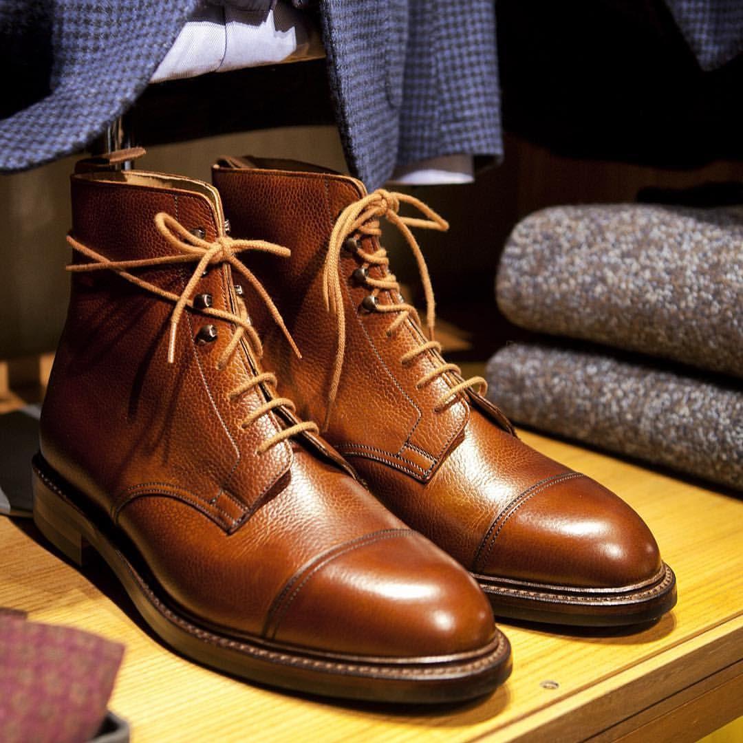 b0498ee3541 Crockett & Jones Coniston boots in tan Scotch grain | Men's Boots in ...