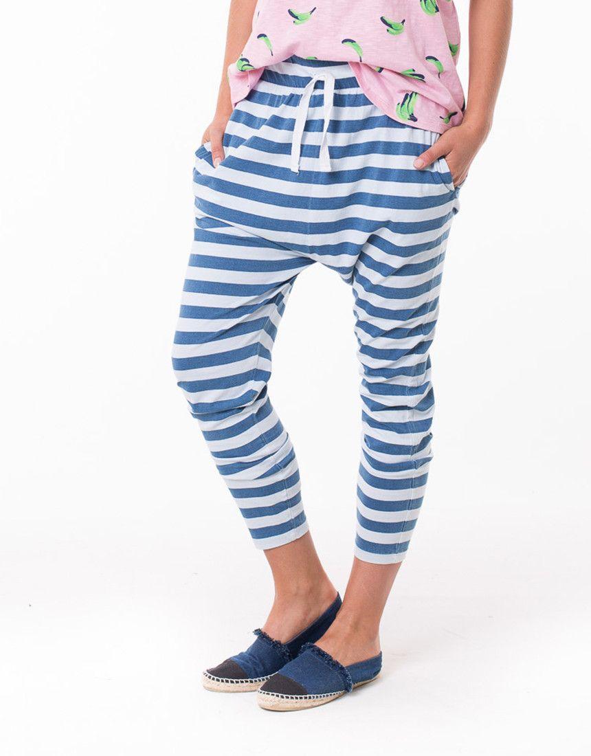 elm - Roadnight Pant In Blue Stripe