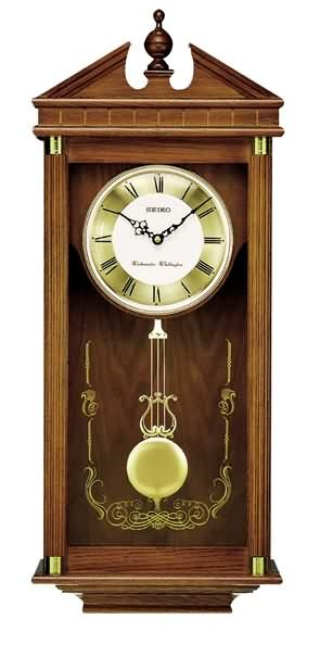 Seiko Qxh107blh Chiming Traditional Wall Clock Traditional Wall Clocks Pendulum Wall Clock Pendulum Clock