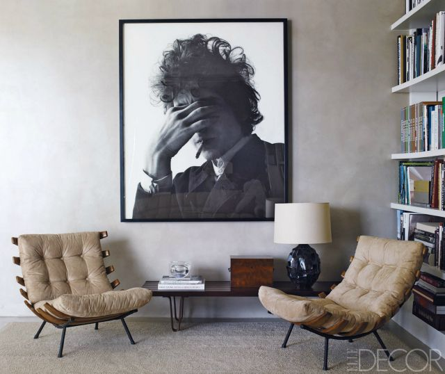 This art print of Bob Dylan looks amazing in this room Home Décor
