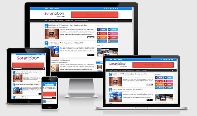 تحميل قالب بلوجر 2018 Sora Ribbon لكل المجالات Free Blogger Templates Responsive Blogger Template Blogger Templates