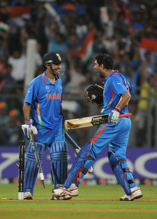 Cyctm Indian Batsman Yuvraj Singh R And Mahe Cricket World Cricket India Win