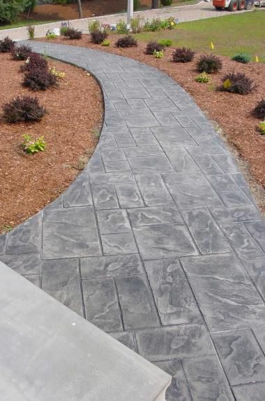 Stamped concrete patio google search colo back yard for Cheap landscaping adelaide