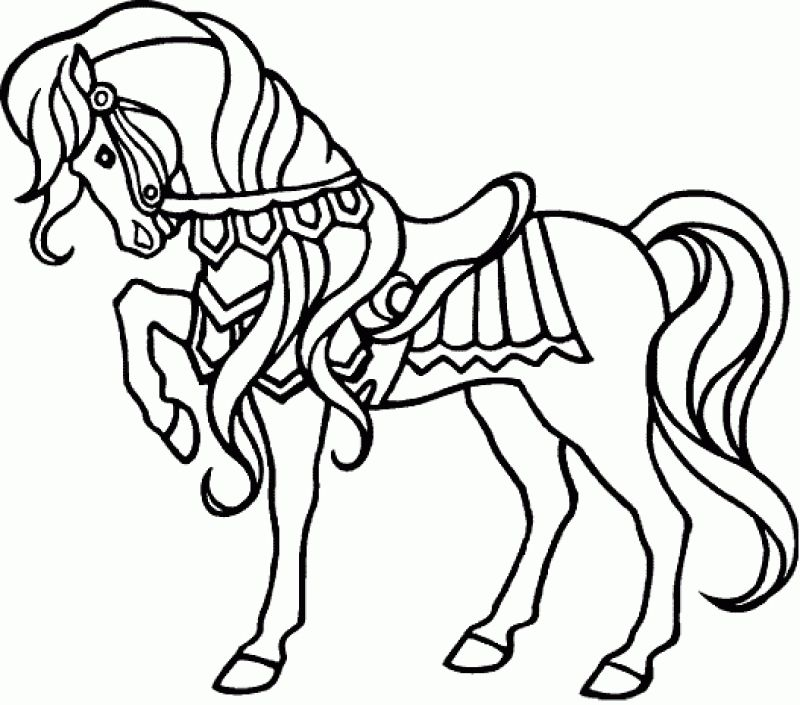Printable Coloring Pages Horses Horse Page For Adults