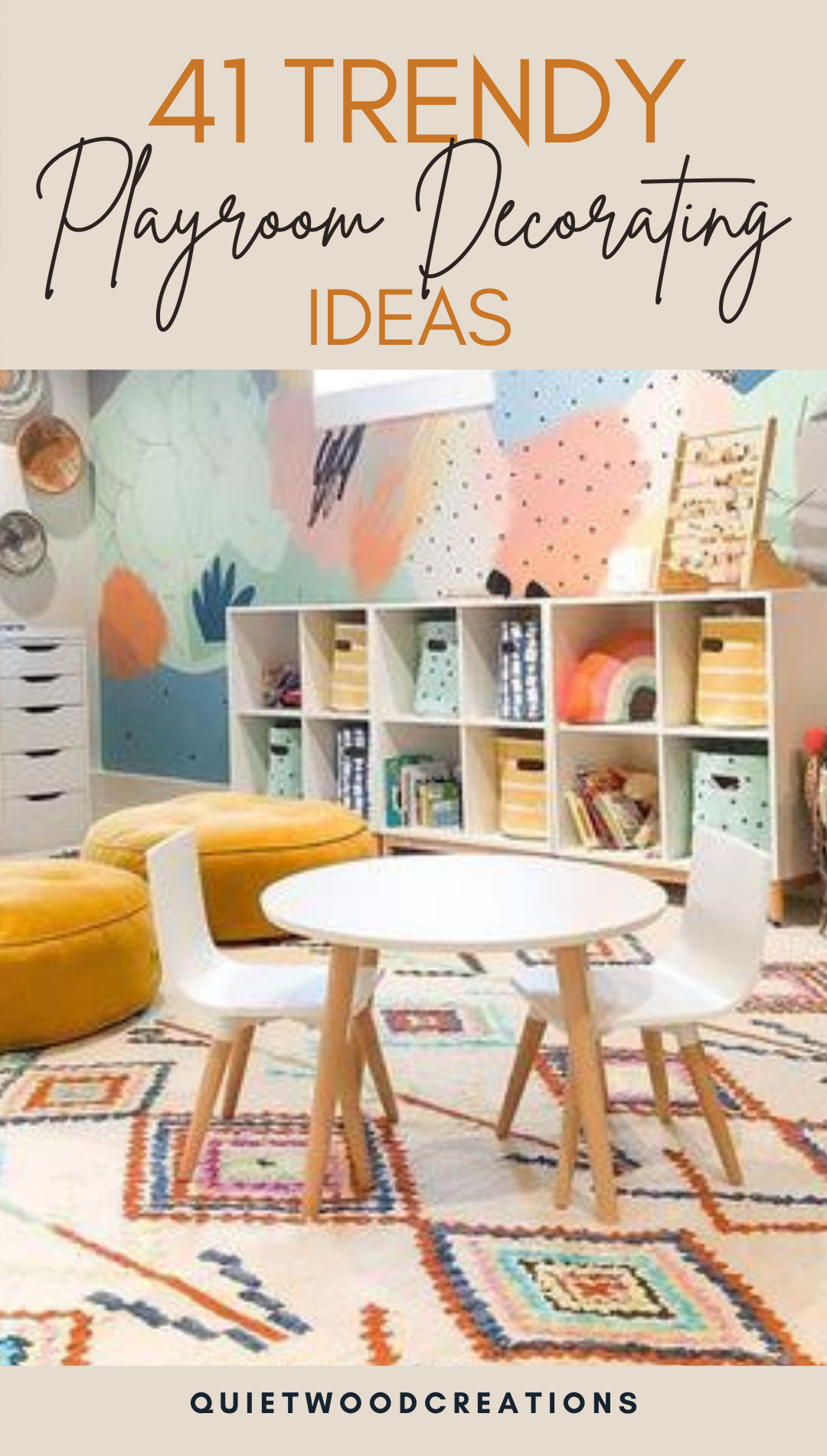 We have 41 ideas for how to decorate your playroom in a way that checks all the boxes #playroom #kidsdecor #nurserydecor