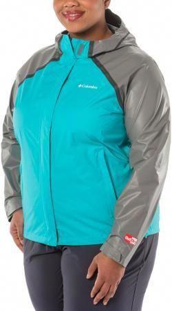 9ff2df740ed Columbia Women s OutDry Hybrid Rain Jacket Plus Sizes Geyser 3X   ColumbiaRainJacketWomens2X