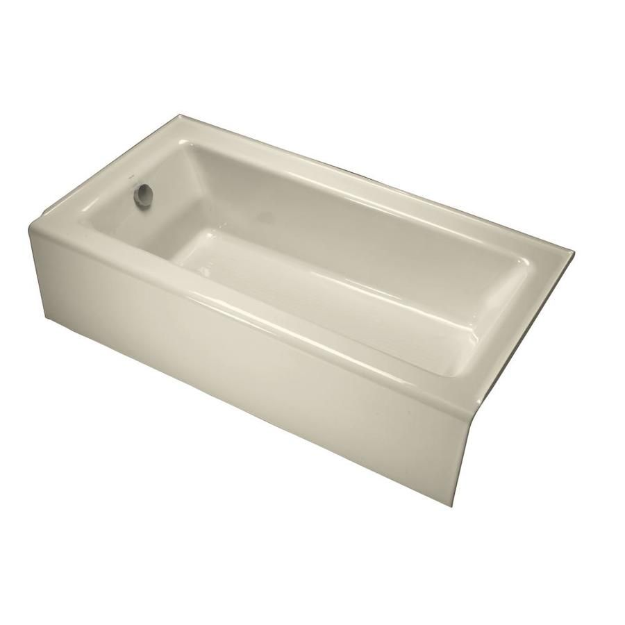 Kohler Bellwether 32 In W X 60 In L Almond Cast Iron Rectangular