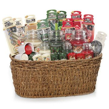Ultimate Holiday Classics Seagrass Gift Basket Set Yankee Candle 1302592