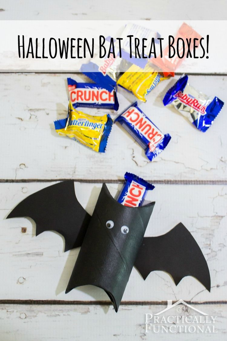 These Bat Treat Bo Are Too Cute Great Kid S Craft And Way To Recycle A Toilet Paper Roll Or Towel