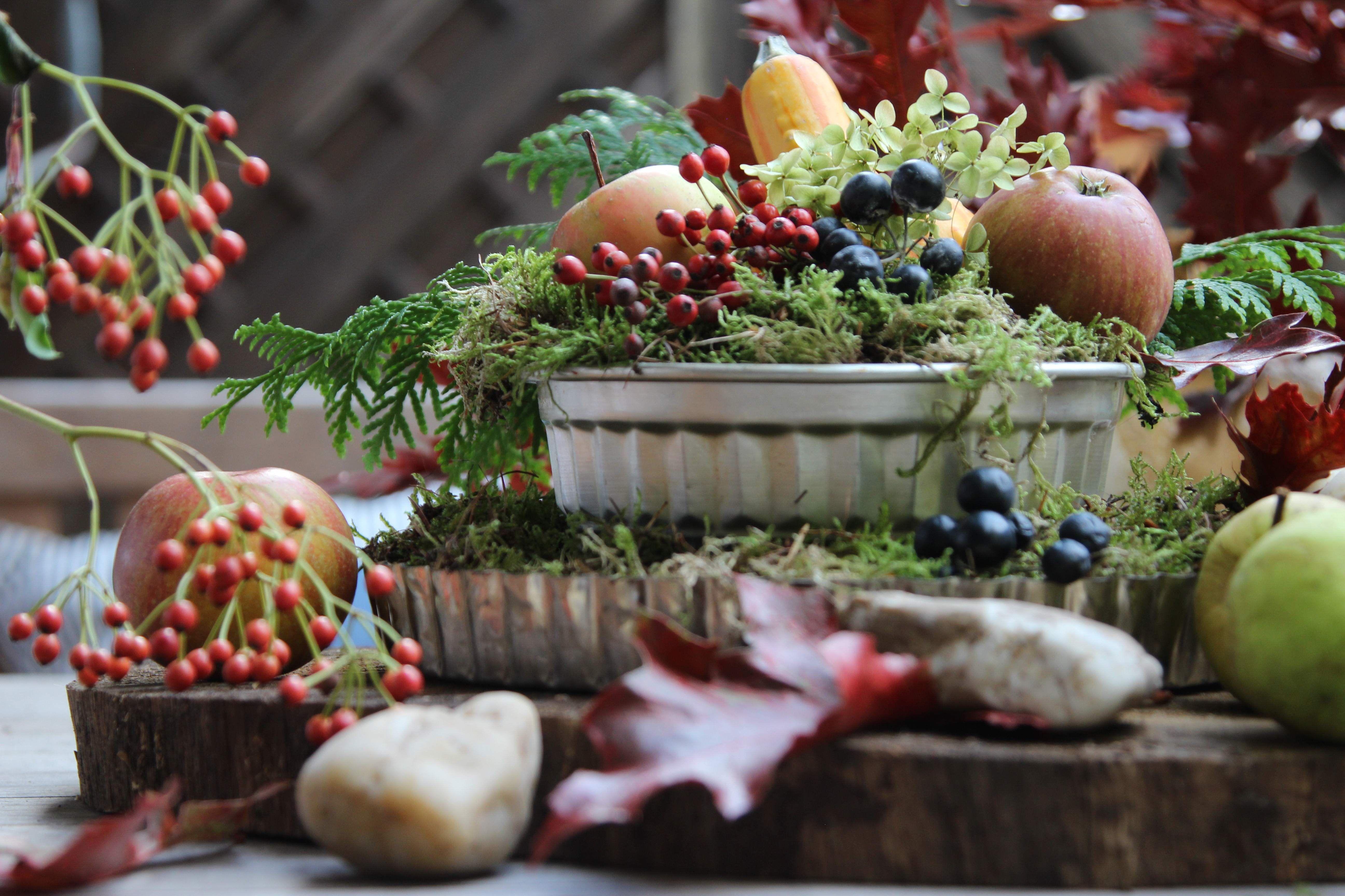 Tische Dekorieren Im Herbst