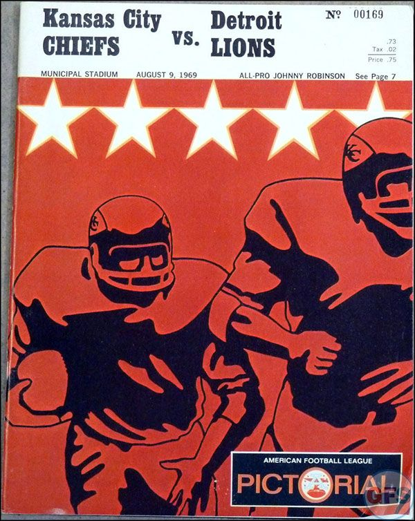 AFL Game Program: Kansas City Chiefs vs. Detroit Lions ...
