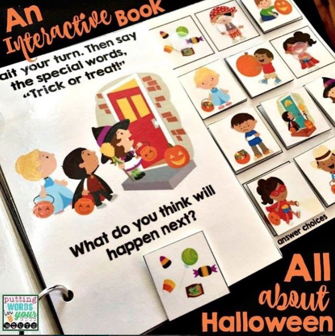 An INTERACTIVE book All About Halloween {with WH- questions} | Wh ...