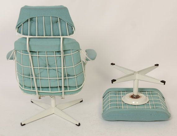 Wire Lounge Chair And Ottoman Possibly Homecrest Mid Century Modern
