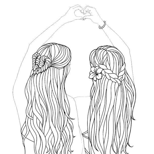 Pin By Tabea Kreitel On Best Friend Drawings Bff Drawings Outline Art Best Friend Drawings