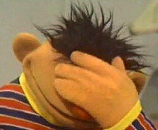 JimmyFungus.com: Epic Facepalm Compilation : the most epic ... Sesame Street Ernie Face