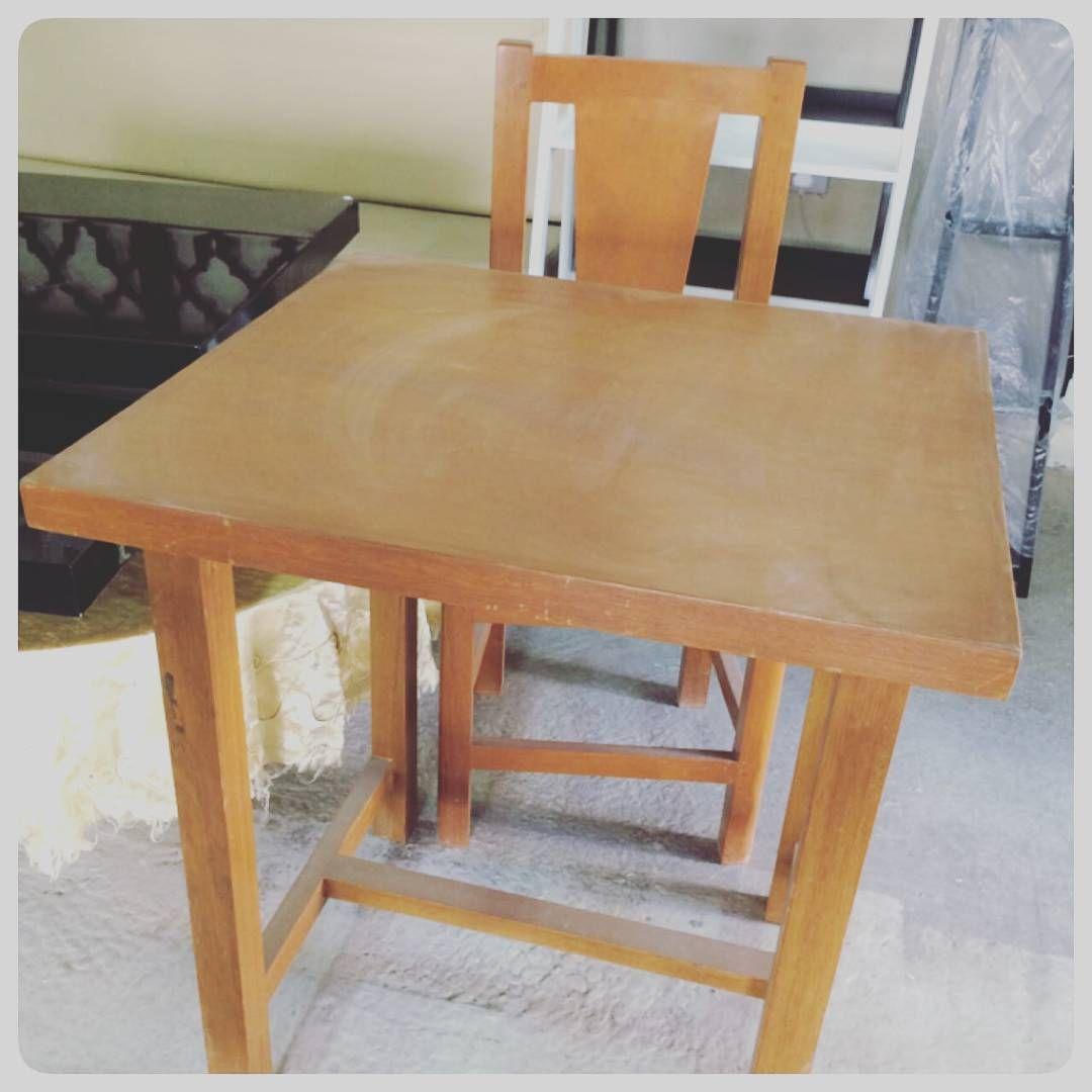 For Sale Wood Table With One Chair Size 70x65 New Price 30 Bd للبيع طاولة خشب مقاس 70x65 جديد السعر 30 Bd Tel 33770 Home Decor Furniture Decor