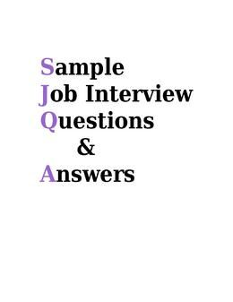Job Interview Questions And Best Answers  Typical Interview