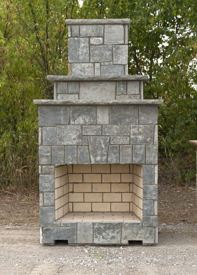 Stone Age New Age 39 Fireplace Available In A Kit Form Or Prebuilt As Shown Here Outdoor Living Kits Fireplace Masonry Fireplace
