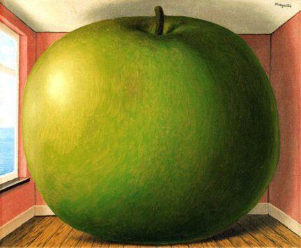 René Magritte -  La Chambre D'écoute, 1958 盗聴の部屋