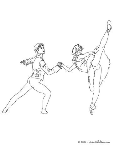Ballet dancers dancing coloring page | For Tiny Dancers | Pinterest ...