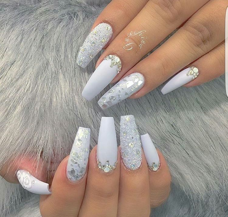 Icy Nails Luxury Nails Gorgeous Nails White Nails