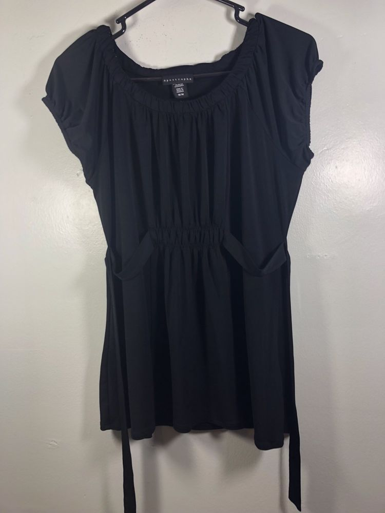 96ea5346ceb17 Womens Tank Top Blouse Apostrophe Stretch Black Medium Back Tie Used  Excellent  fashion  clothing  shoes  accessories  womensclothing  tops  (ebay link)