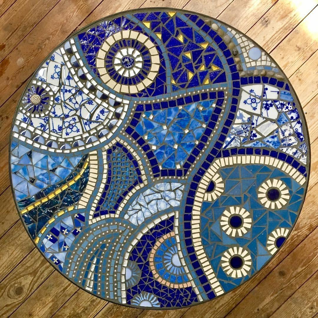 Tisch Einer Kursteilnehmerin Mosaic Mosaik Mosaico Mosaics
