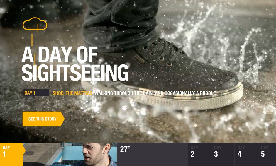 Geox Amphibiox: 7 days of rain - Site of the Day January 09 2014