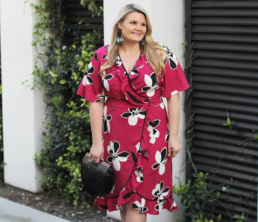Target Who What Wear Floral Wrap Dress Spring Dress Affordable Spring Dress Www Instagram Com Emily Noel G Fashion Wrap Dress Floral Target Who What Wear [ 931 x 1079 Pixel ]