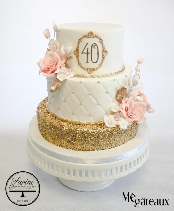 Excellent 40Th Birthday Cake By Me Gateaux Cakesdecor Com Cakes Personalised Birthday Cards Cominlily Jamesorg