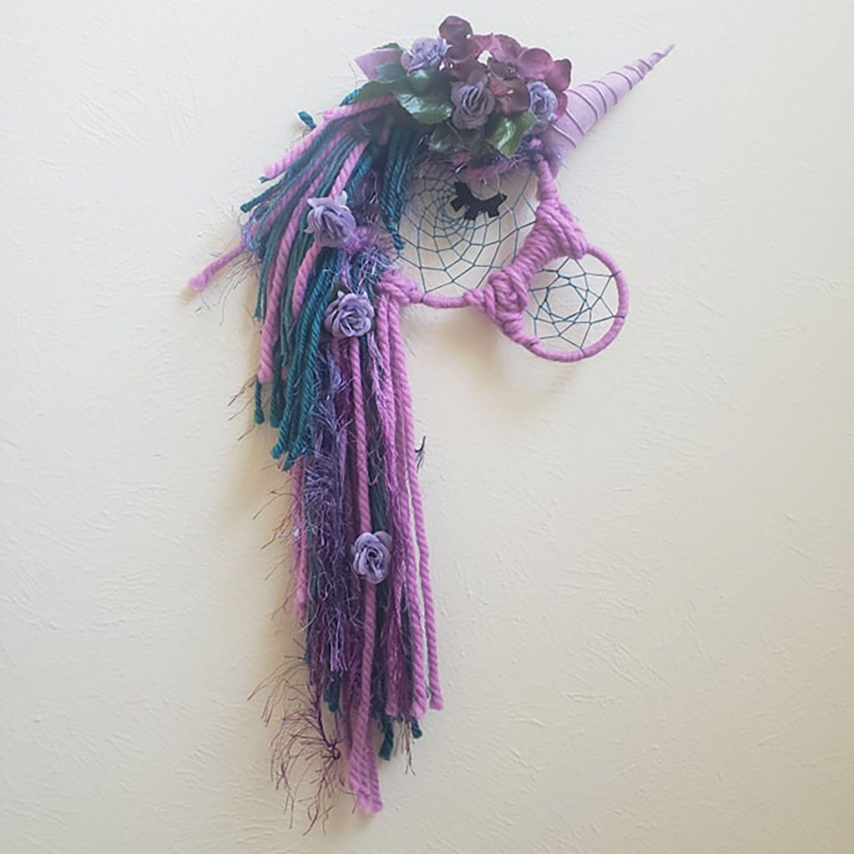 5 Inch Blue Aqua Sleepy Unicorn Children/'s Double Hair Bow