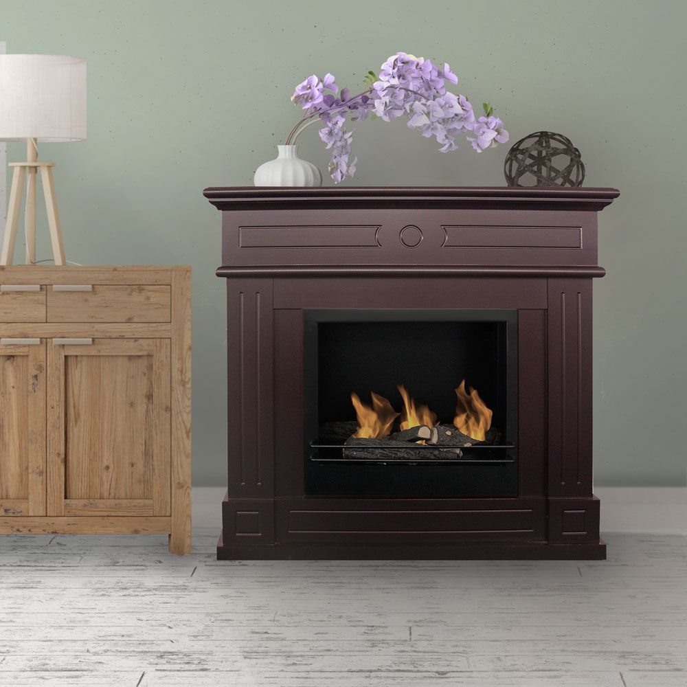 buy aztec bio ethanol fireplace brown online australia living