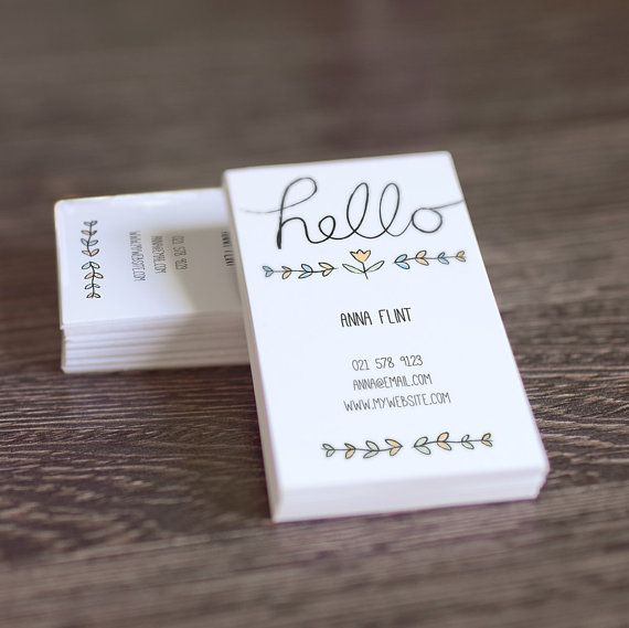 Diy Printable Calling Card O Hand