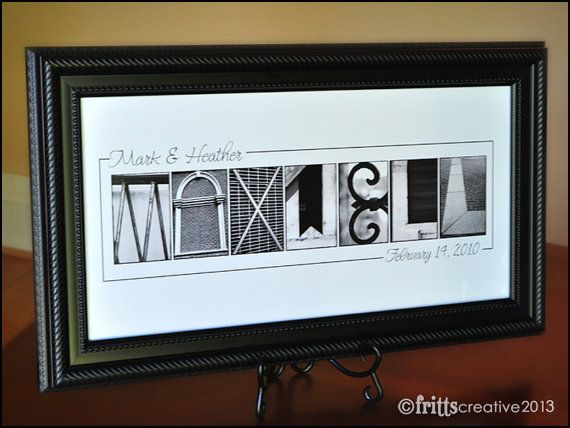 Personalized Wedding Gfit Alphabet Photography Bw Name Frame Print 10x20 Unframed On Etsy 35 13 Aud Alphabet Photography Name Frame Letter Photography