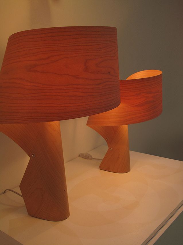LZF | Air Table Lamp | A Single Piece Of Wood Veneer Curved Into This  Beautiful