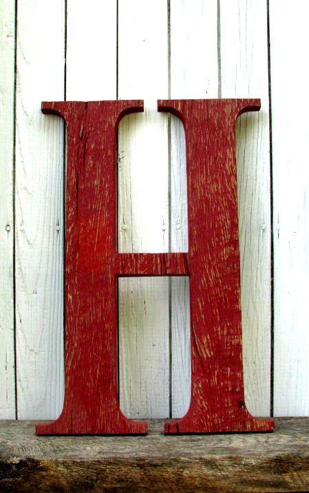 ab069a80891cb Big Wooden Letter H