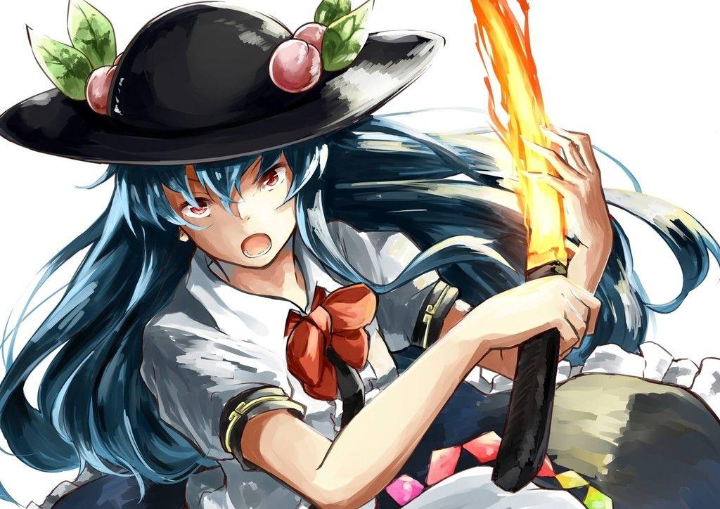 Angry Tenshi Hinanawi, Touhou wallpaper Theme background