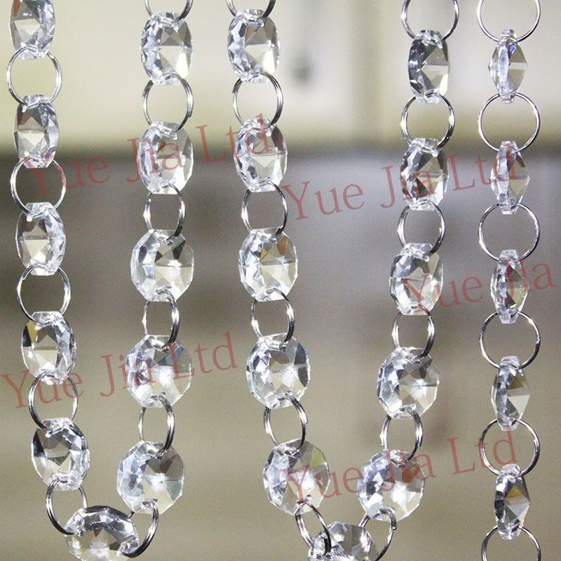 33 ft crystal clear acrylic bead garland chandelier hanging wedding 33 ft crystal clear acrylic bead garland chandelier hanging wedding supplies aloadofball Image collections