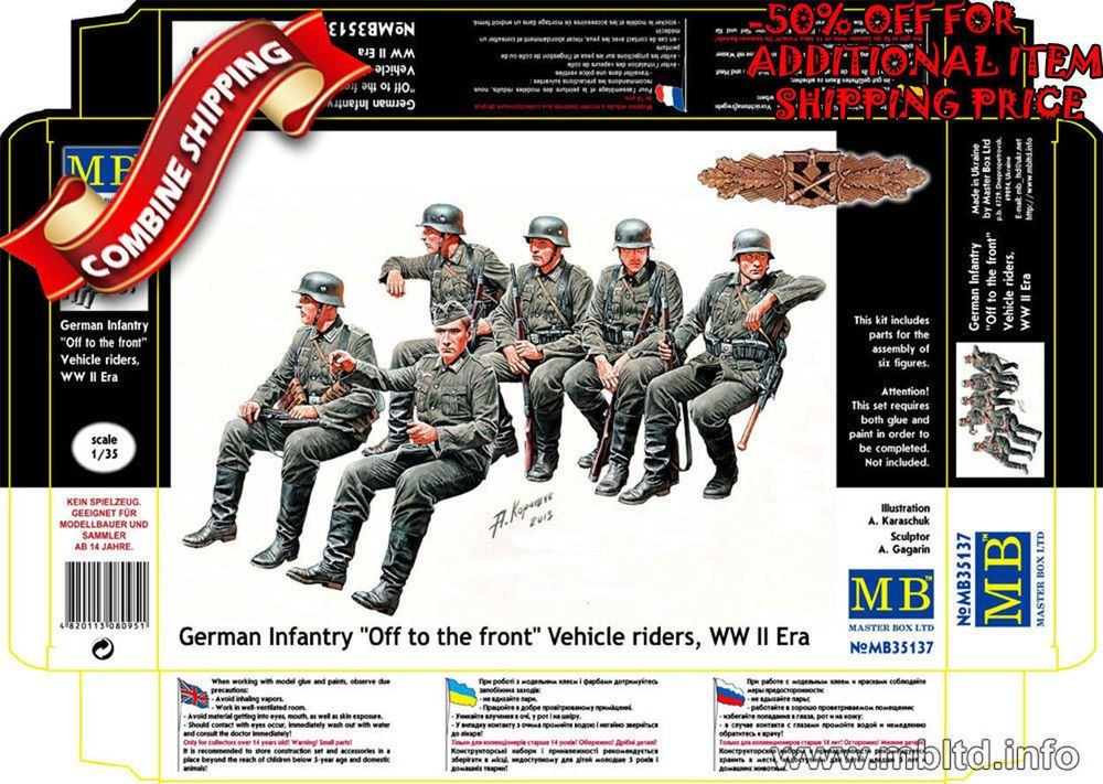 Master Box 1//35 German Infantry /'Off to the Front/' Vehicle Riders # 35137
