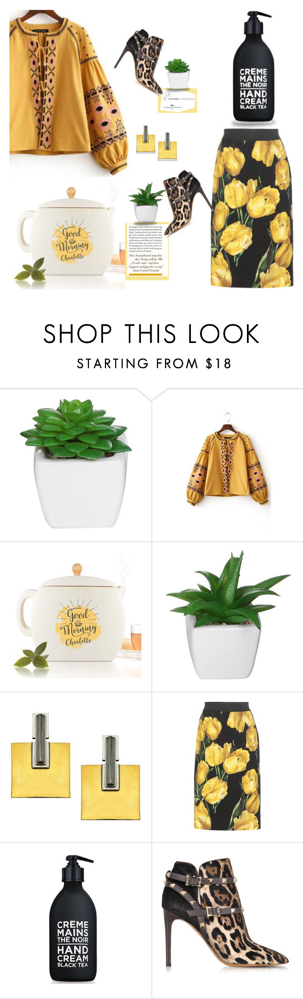 """""""GOOD MORNING, CHARLOTTE"""" by k-hearts-a ❤ liked on Polyvore featuring Dolce&Gabbana, La Compagnie de Provence and Valentino"""
