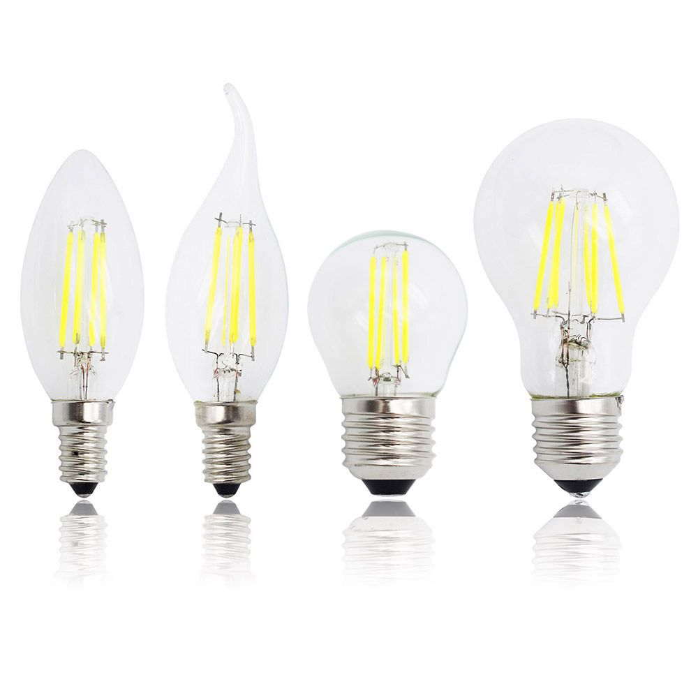 E27 E14 Candle Light Antique Retro Edison Glass 220v Led Filament Dimmable Bulb Replace 20w 30w 50w Incandescent Lamp Chandelier Filament Lighting