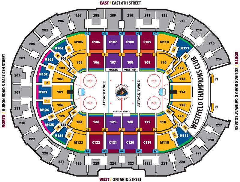 Seating Charts Rocket Mortgage Fieldhouse In 2020 Quicken Loans Arena Seating Charts Lake Erie