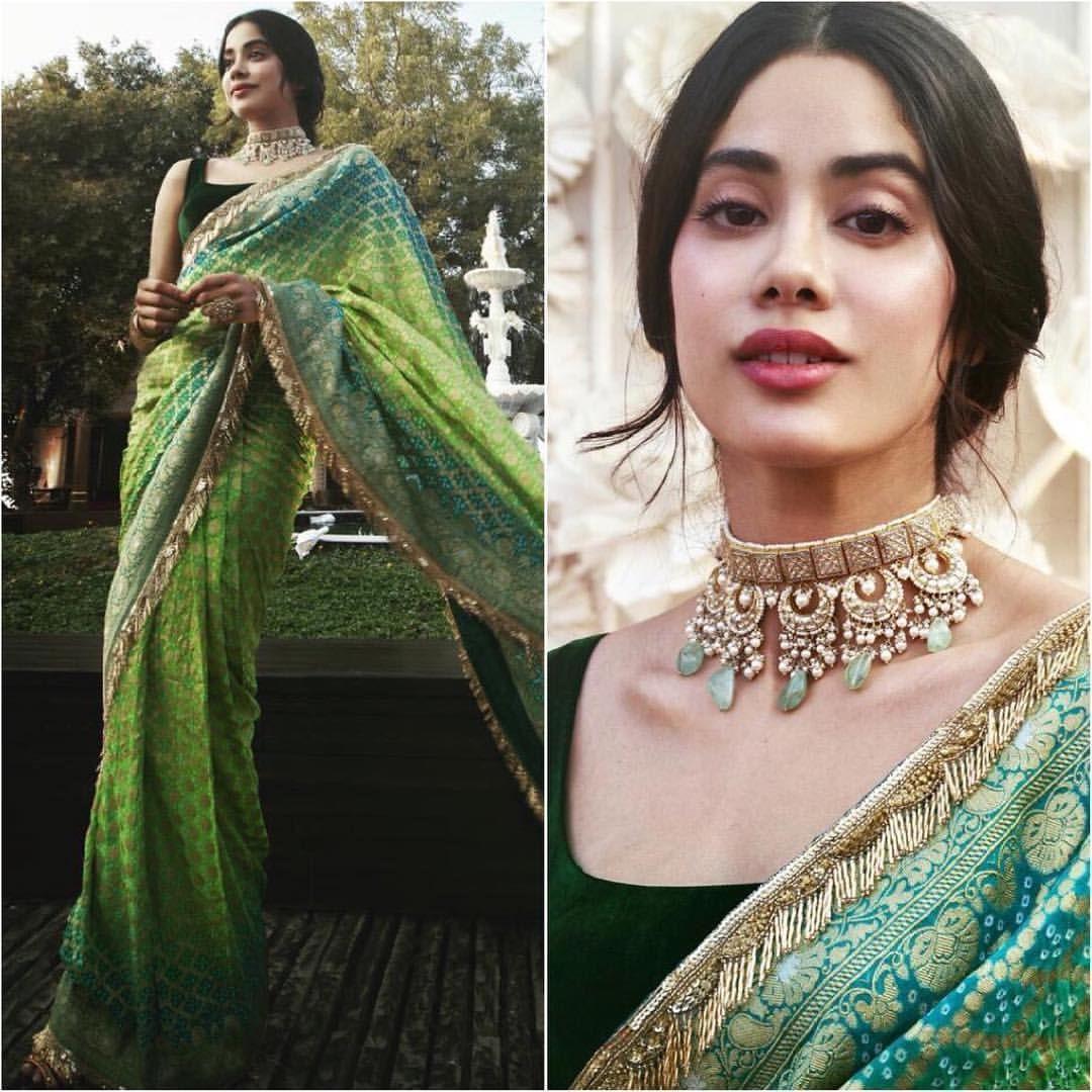 Janvi Kapoor   Indian sari dress, Bridesmaid outfit, Indian wedding outfits