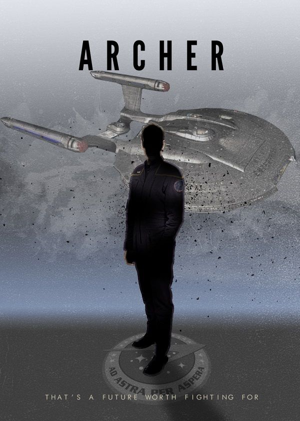 "Star Trek Starfleet Captains Jonathan Archer #Displate artwork by artist ""Rykker o7"". Part of… | Displate thumbnail"