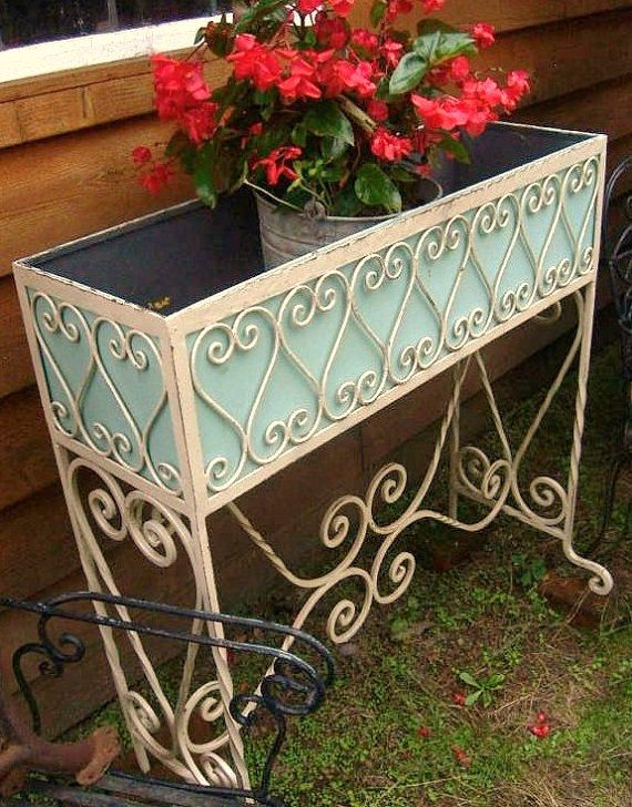 Antique Vintage 1870s 1900s Southern French Country Victorian Etsy In 2020 Planter Stand Vintage Patio Porch Planters