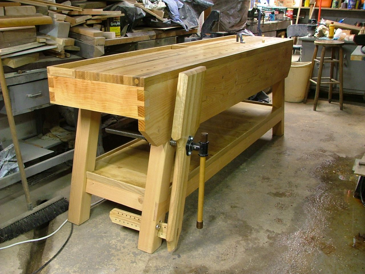 Slant legged Nicholson bench