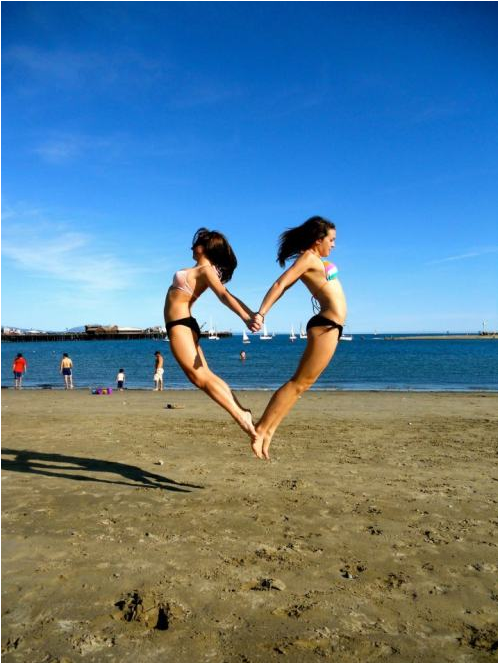 I heart summer.  Fun! Might need to try this! Hopefully I can get the shot without breaking my neck.