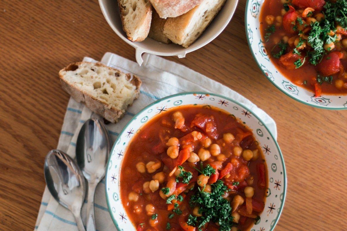 Potage r confort pois chiches tomates la mouette recettes potage tomates recette soupe - Potage a la tomate maison ...