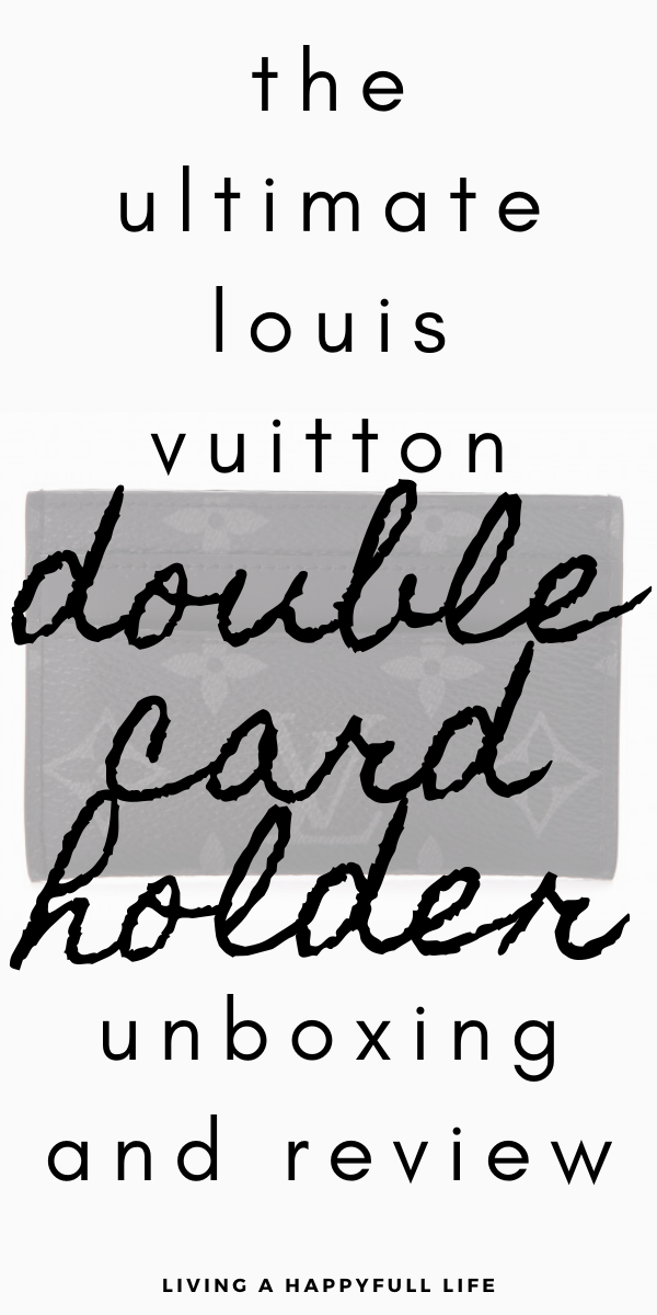 Looking to purchase a Louis Vuitton Double Card Holder? In this post, we are talking all things LV. I give you a full comparison of the Louis Vuitton Double Card Holder 2019 from price to colours to sizes and features. I unbox my very own Louis Vuitton Double Card Holder in the classic monogram and talk you through how this card holder is. If you're looking to learn more about the Louis Vuitton Double Card Holder, look no further than this post! #designerfashion #luxuryfashion #LV #louisvuitton